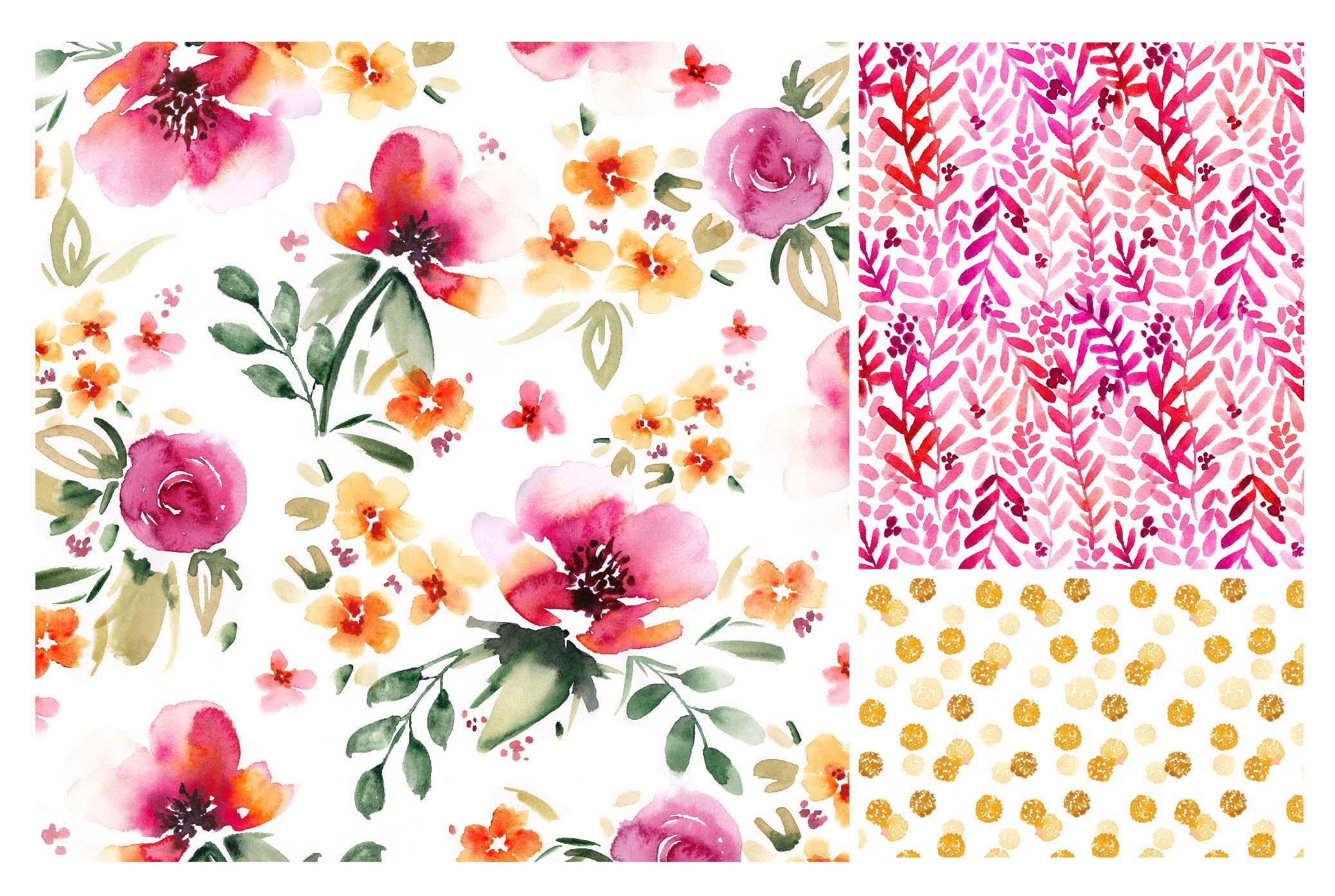 Sara Berrenson Illustration  flower patterns