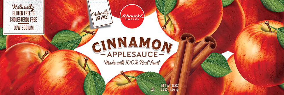 Pam Wall Illustration Cinnamon Apples packaging