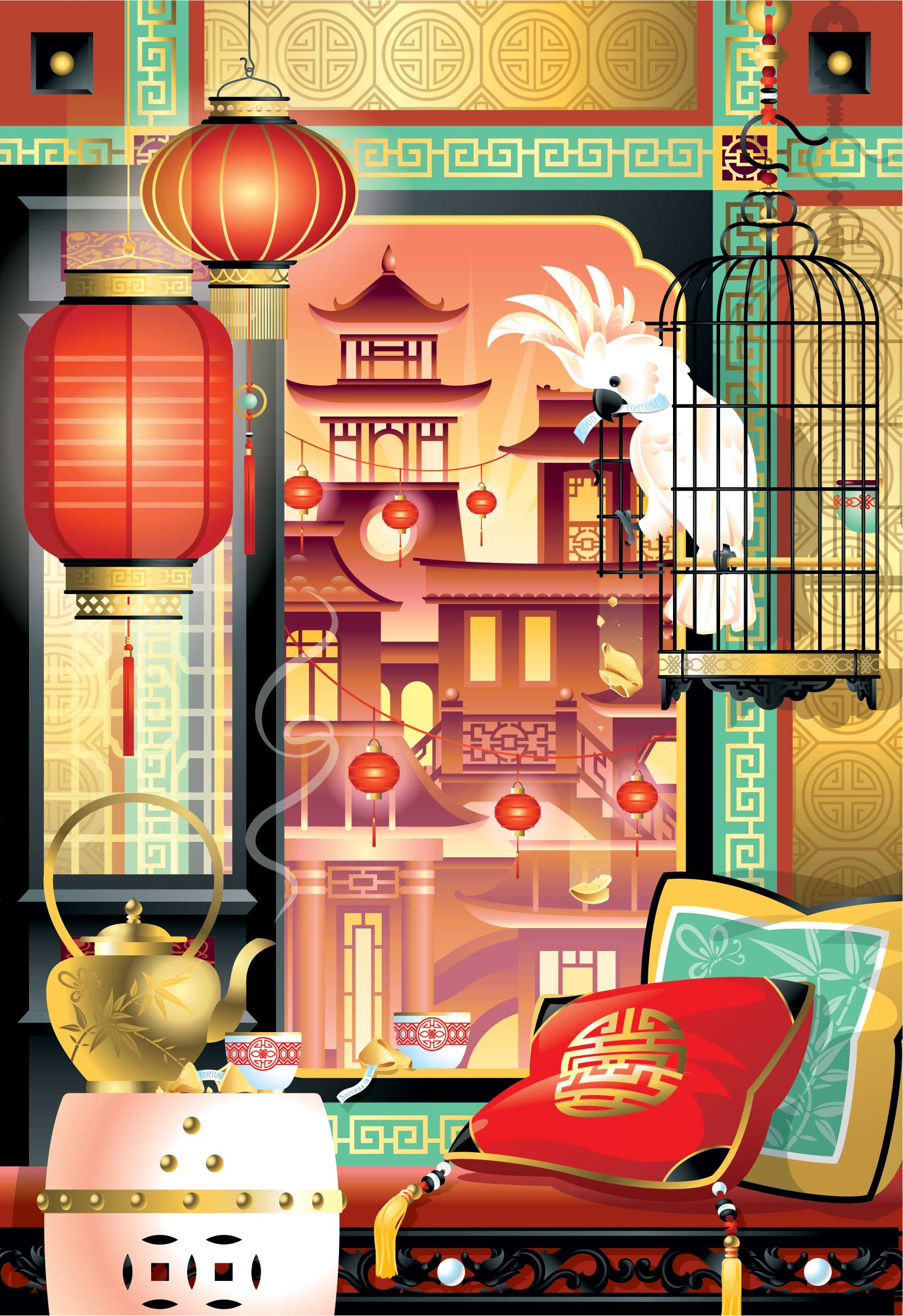 Chris Musselman Illustration Chinese Window