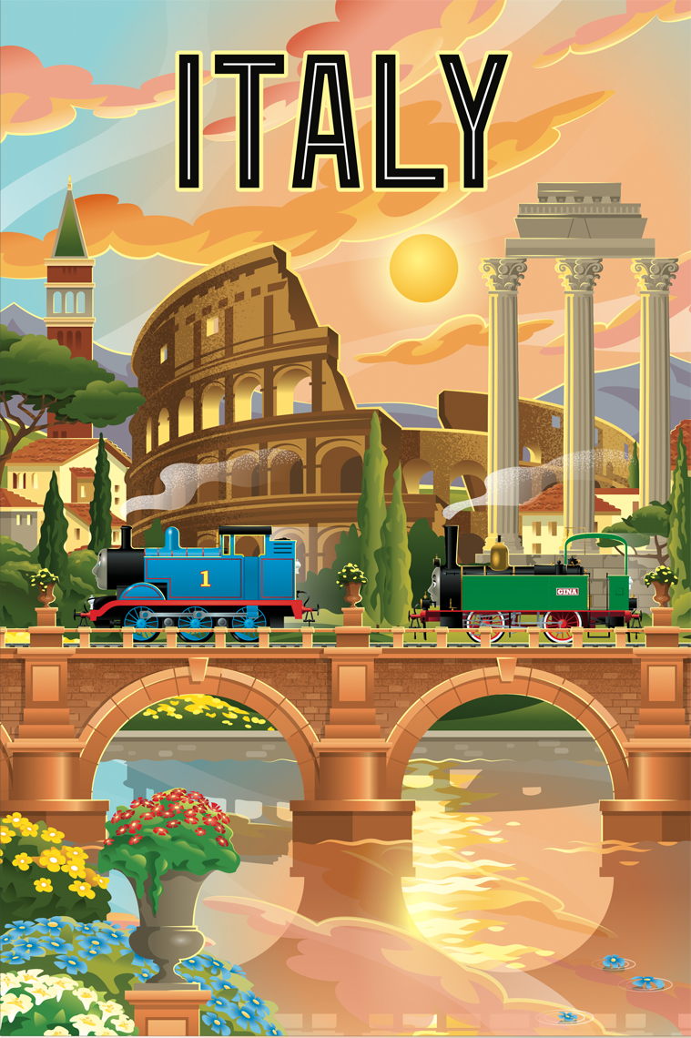 Chris Musselman Thomas the Train Italy Poster
