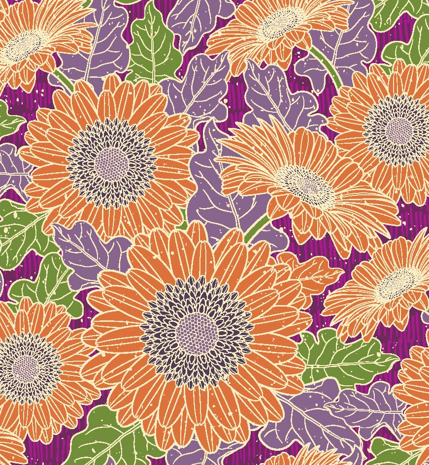 Pamela Duarte Illustration Gerber Daisy Pattern