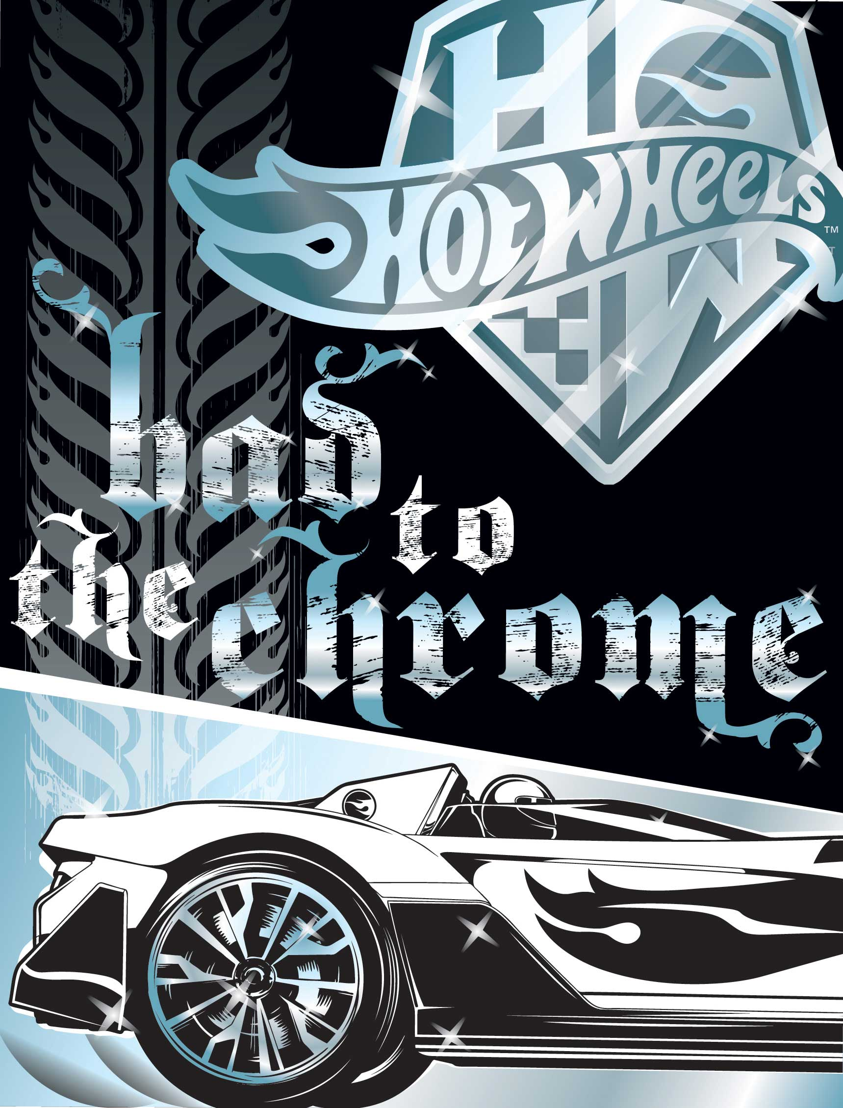 Chris Musselman Illustration Hot Wheels Bad to the Chrome