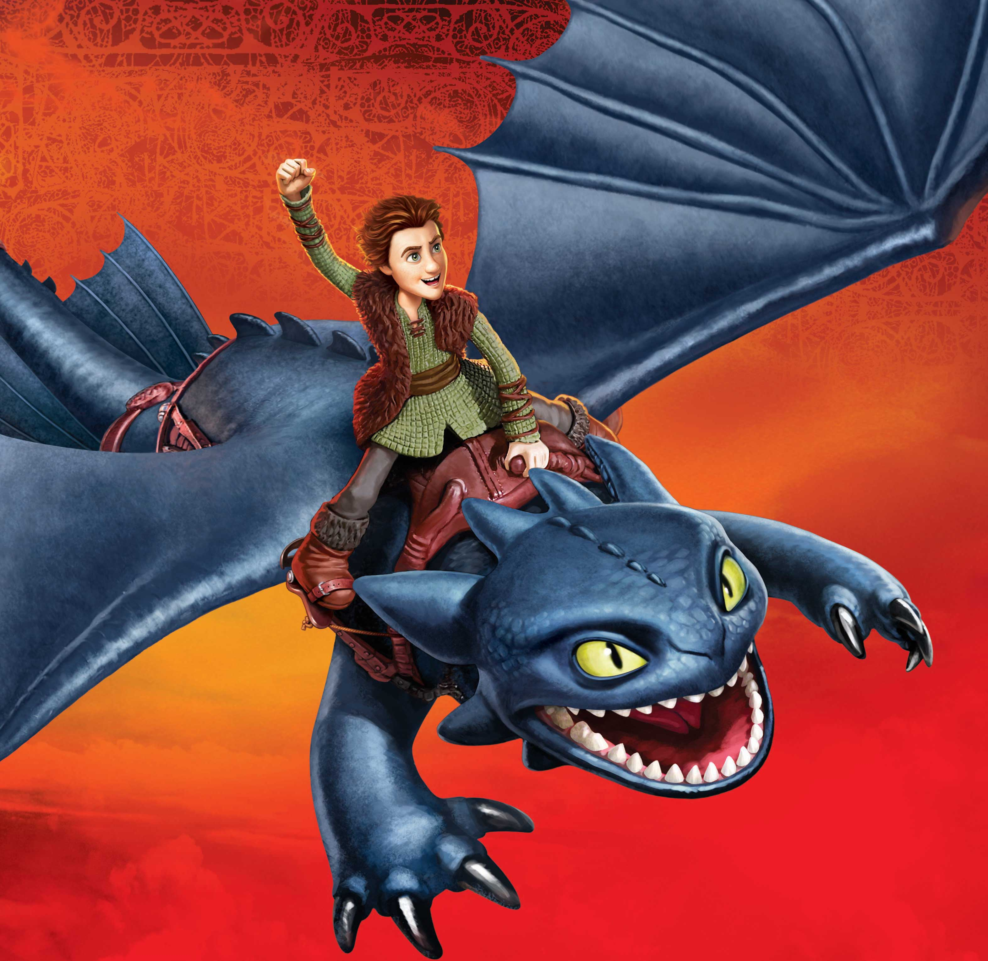 Ray Goudey Illustration Hiccup Face Riding on Dragon
