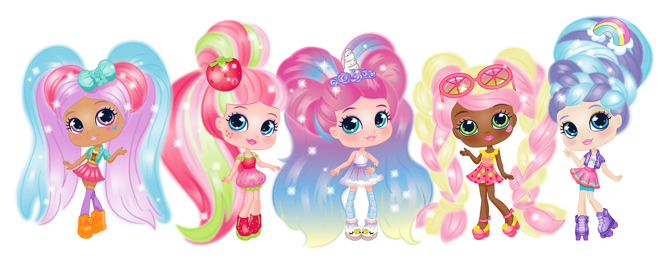 Mona Daly Illustration Jakks Colorful girls