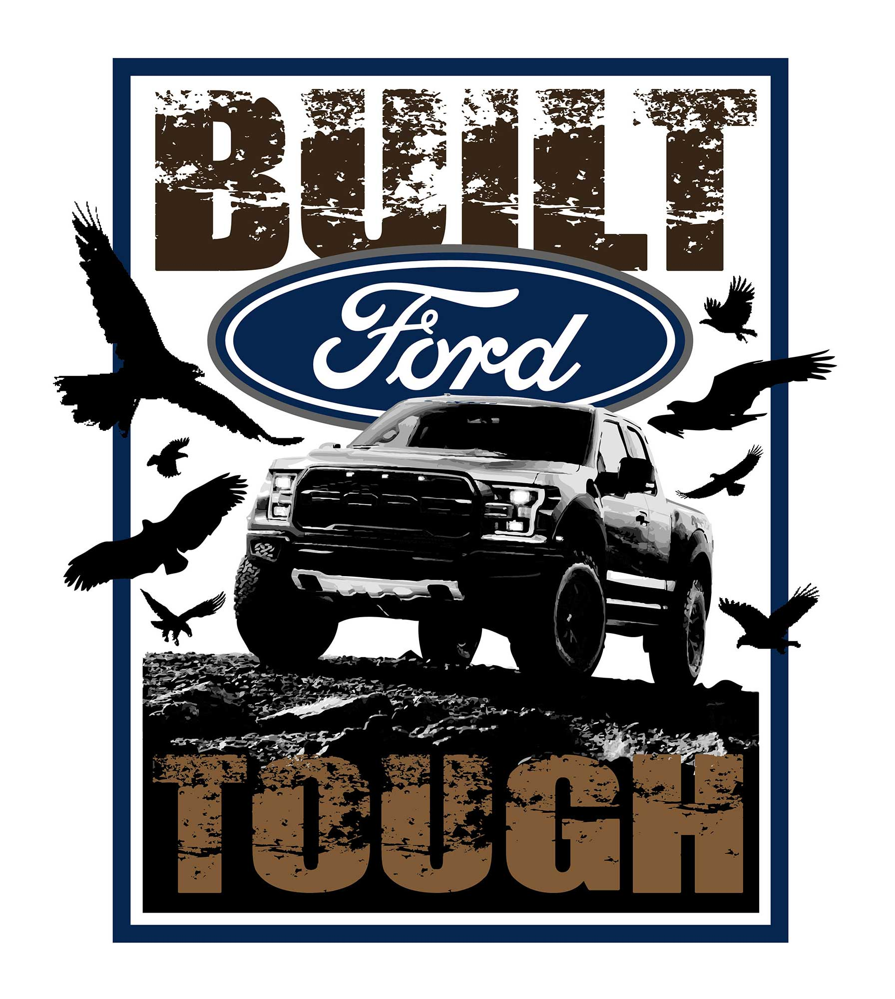 Kelly Hume Illustration Built Ford Tough