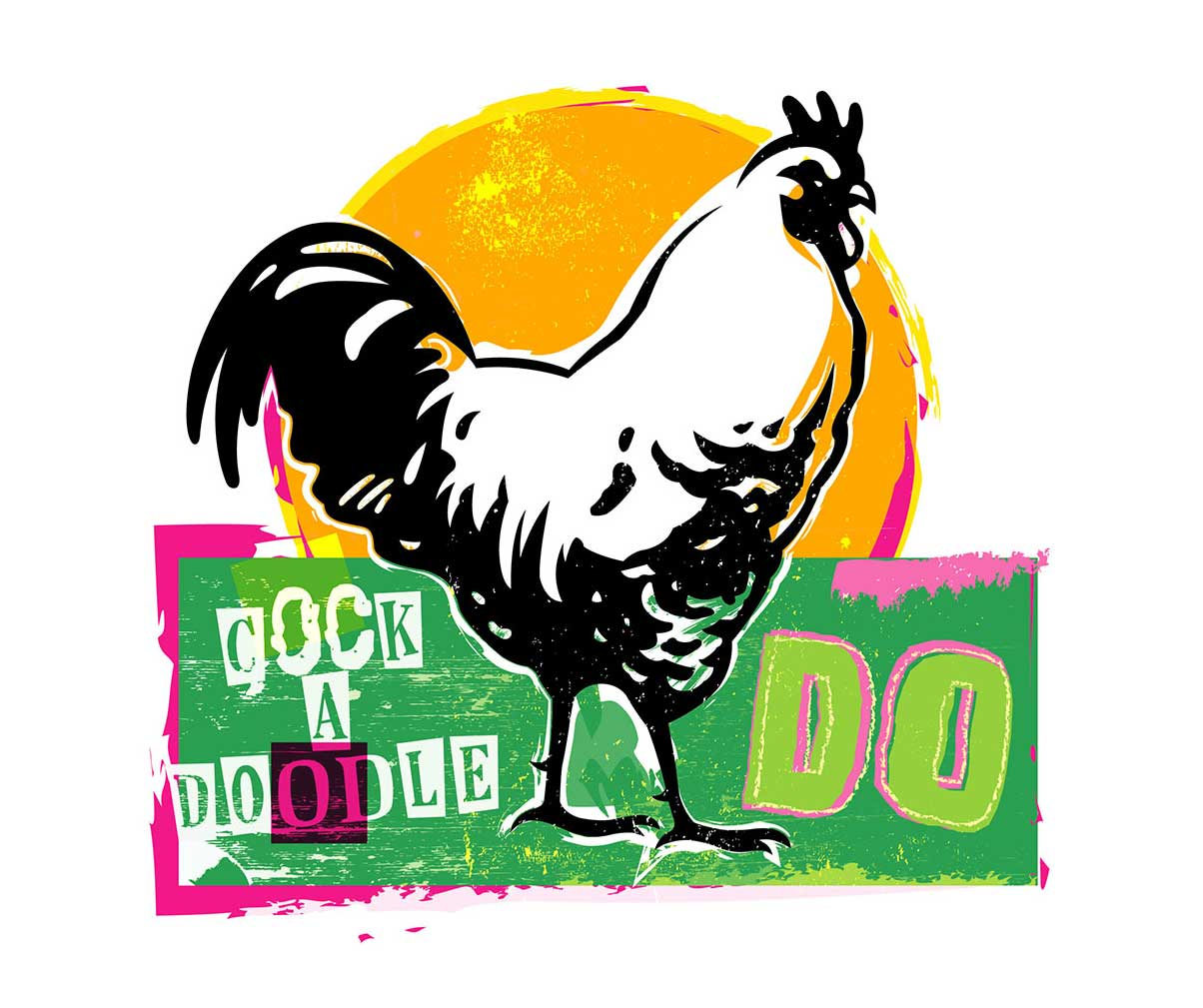 Kelly Hume Illustration rooster cock a doodle do