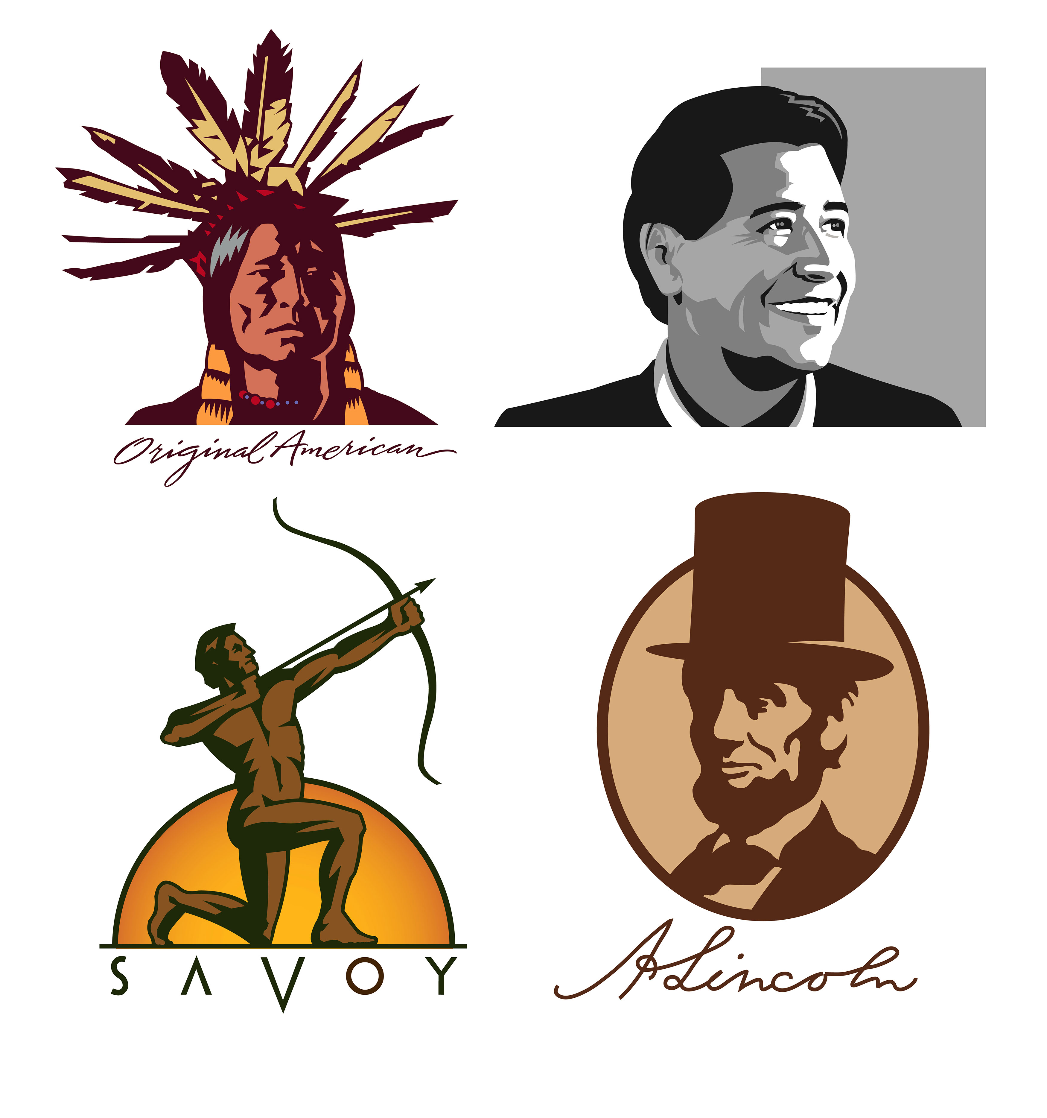 Kelly Hume Illustration Lincoln Native American Savoy