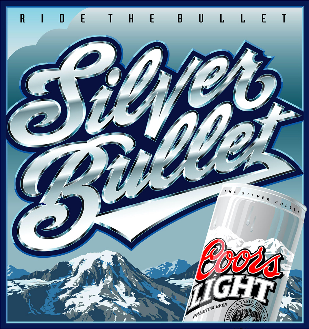 Kelly Hume Illustration silver bullet coors light