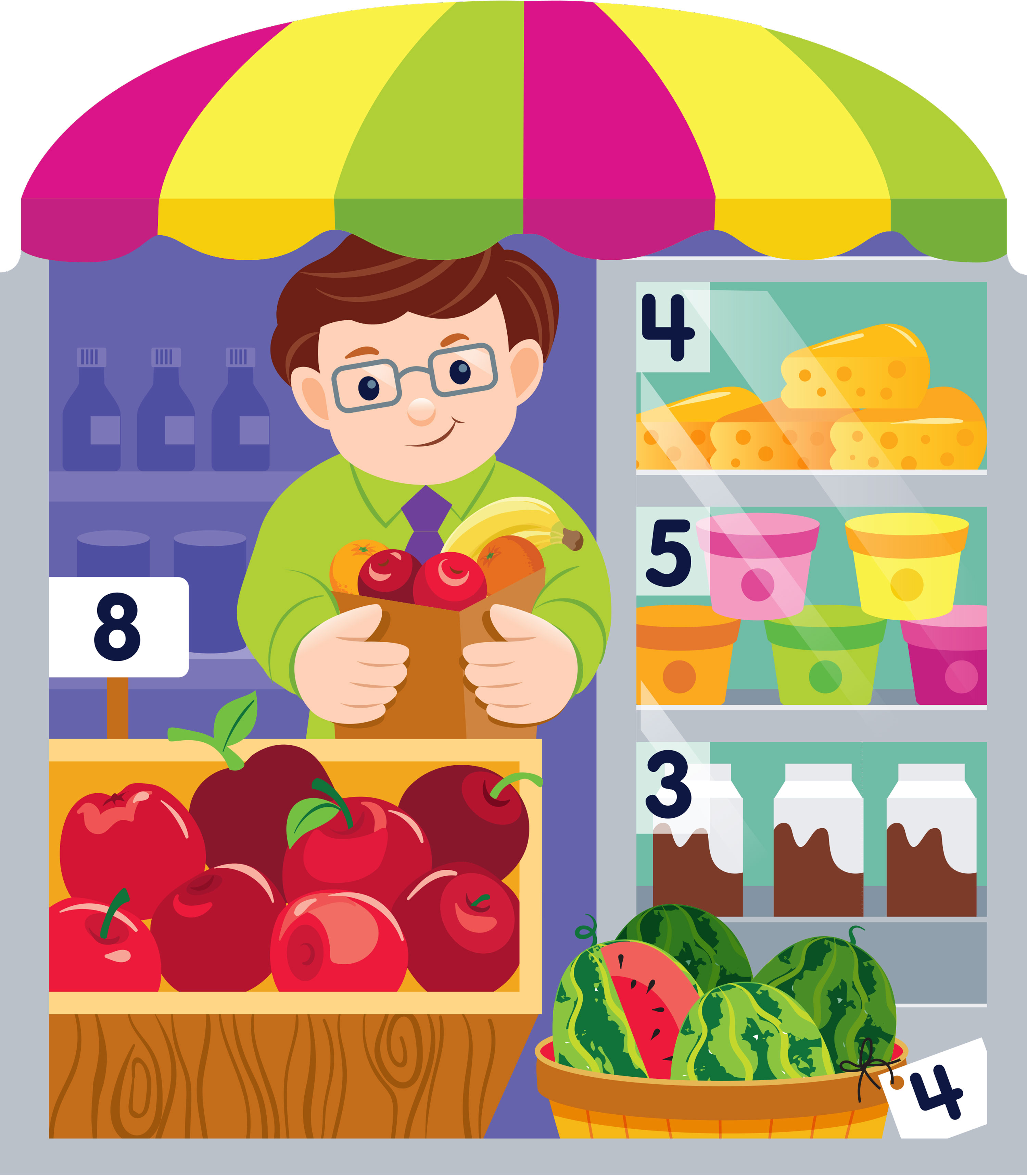 Mona Daly Illustration Fisher Price Fruit and Vegetable Stand