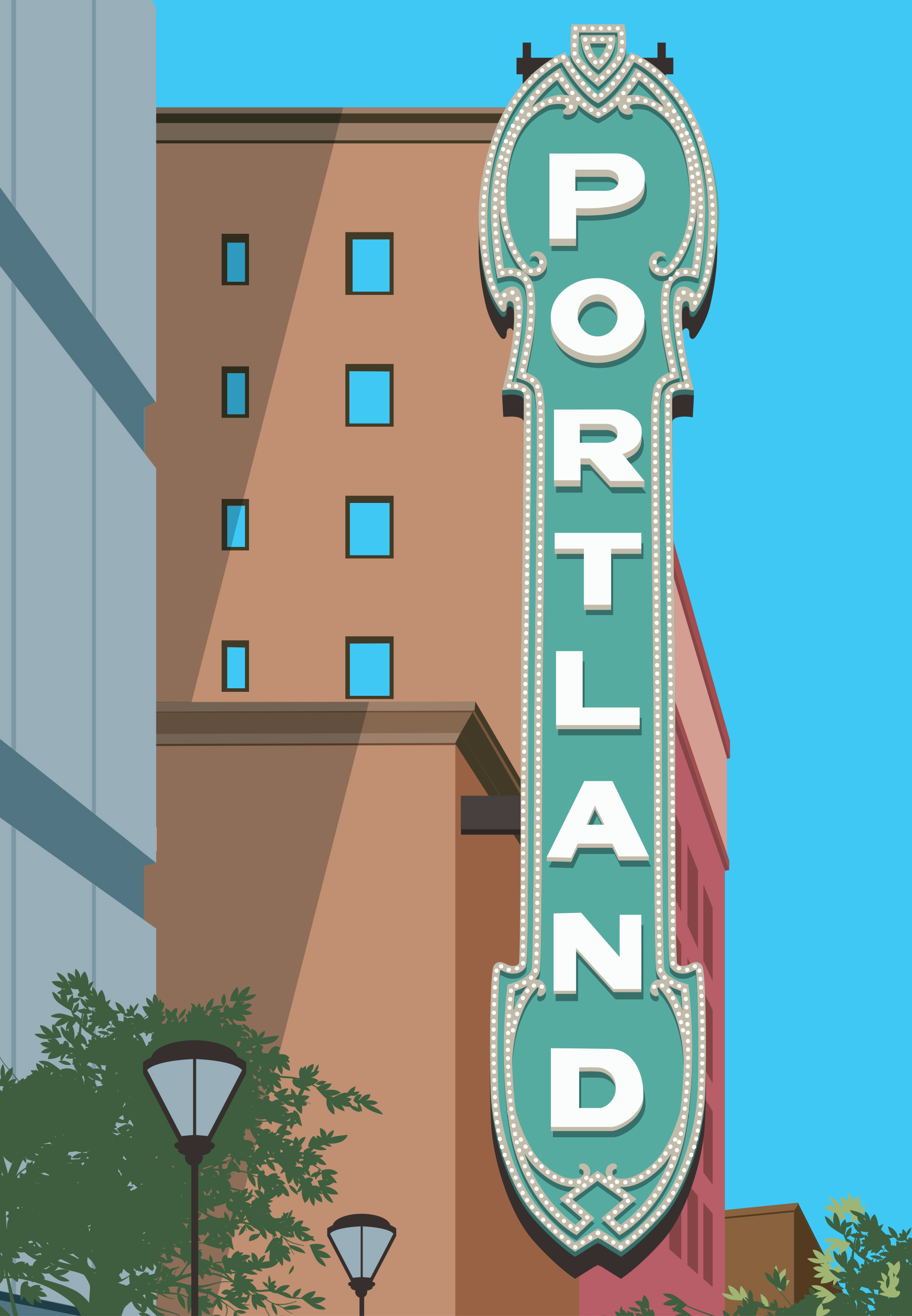 Mona Daly Illustration Portland Sign