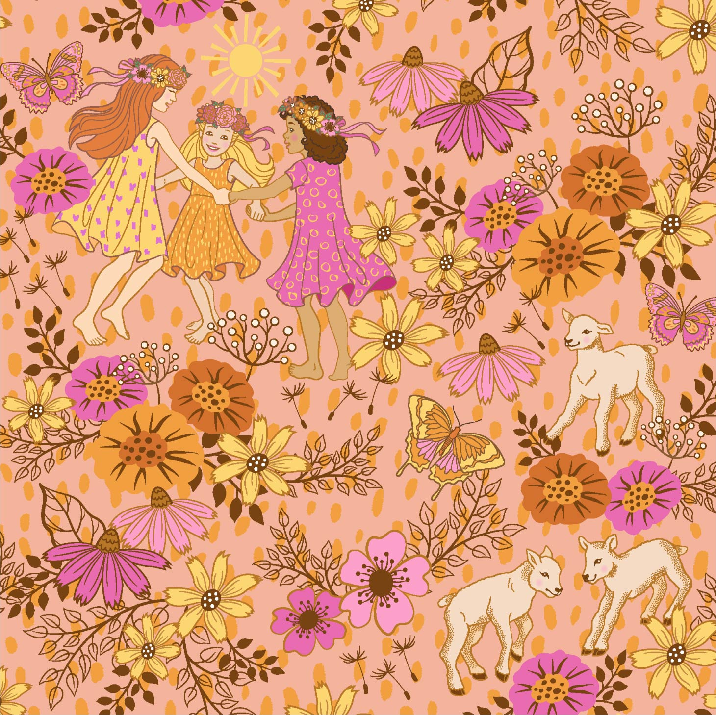 Pamela Duarte Illustration Midsummer Festival Pattern