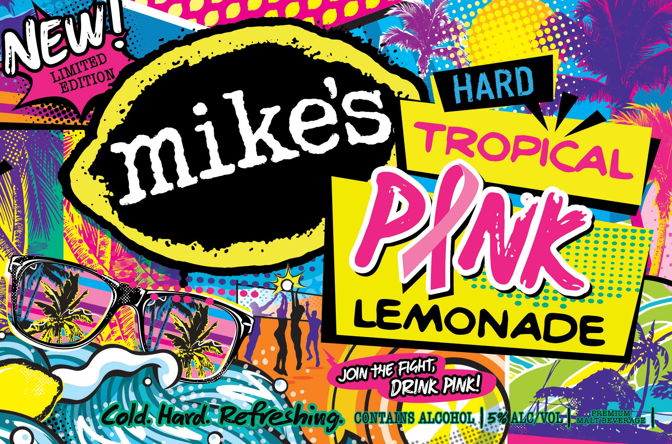 Chris Musselman Illustration Mikes Hard Pink Lemonade