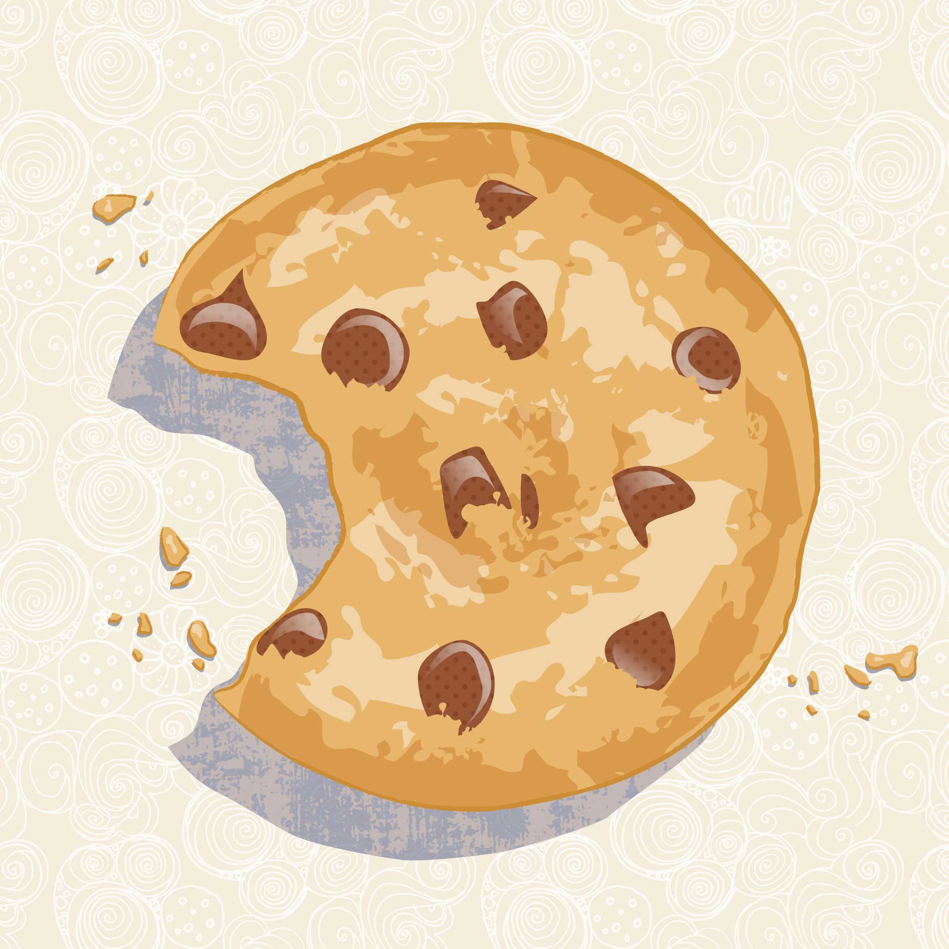 Mona Daly Illustration Chocolate Chip Cookie