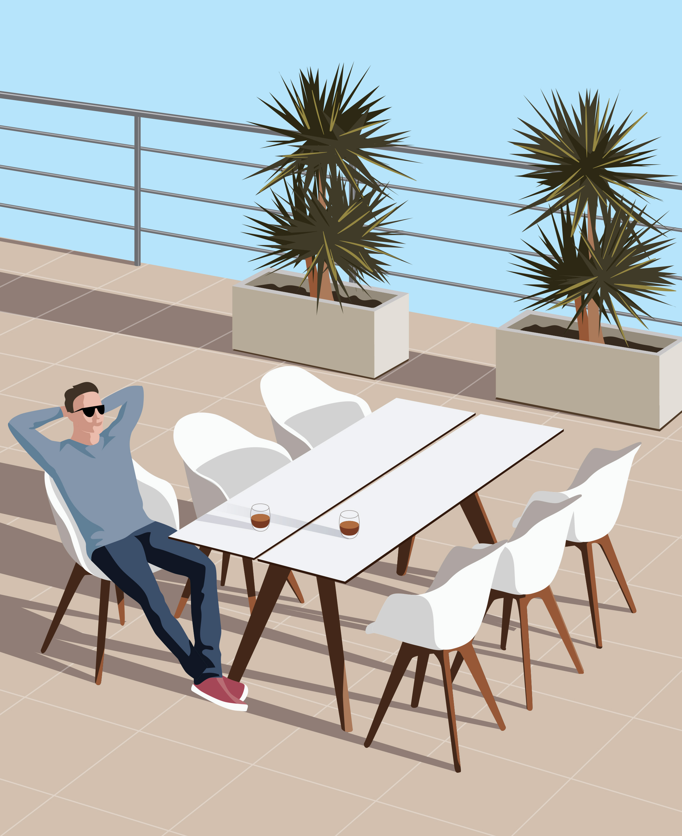Mona Daly Illustration Outdoor Seating