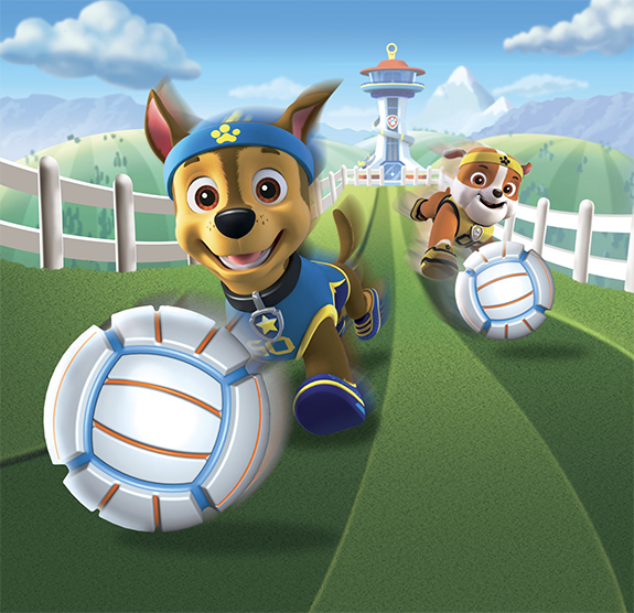 Pam Wall Illustration Paw Patrol Soccer Ball Game