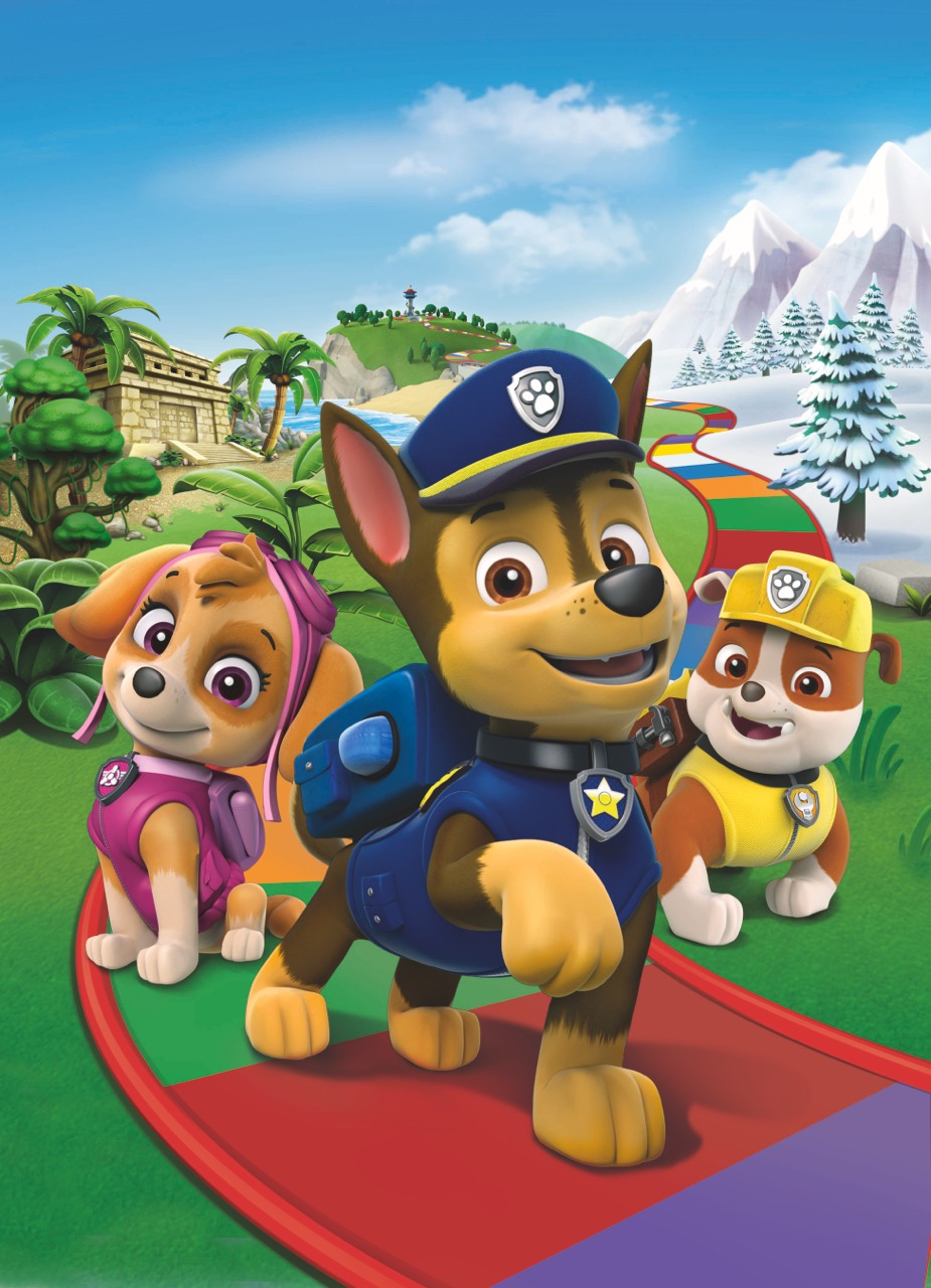 Ray Goudey Illustration Paw Patrol Game Board bull dog shepherd collie