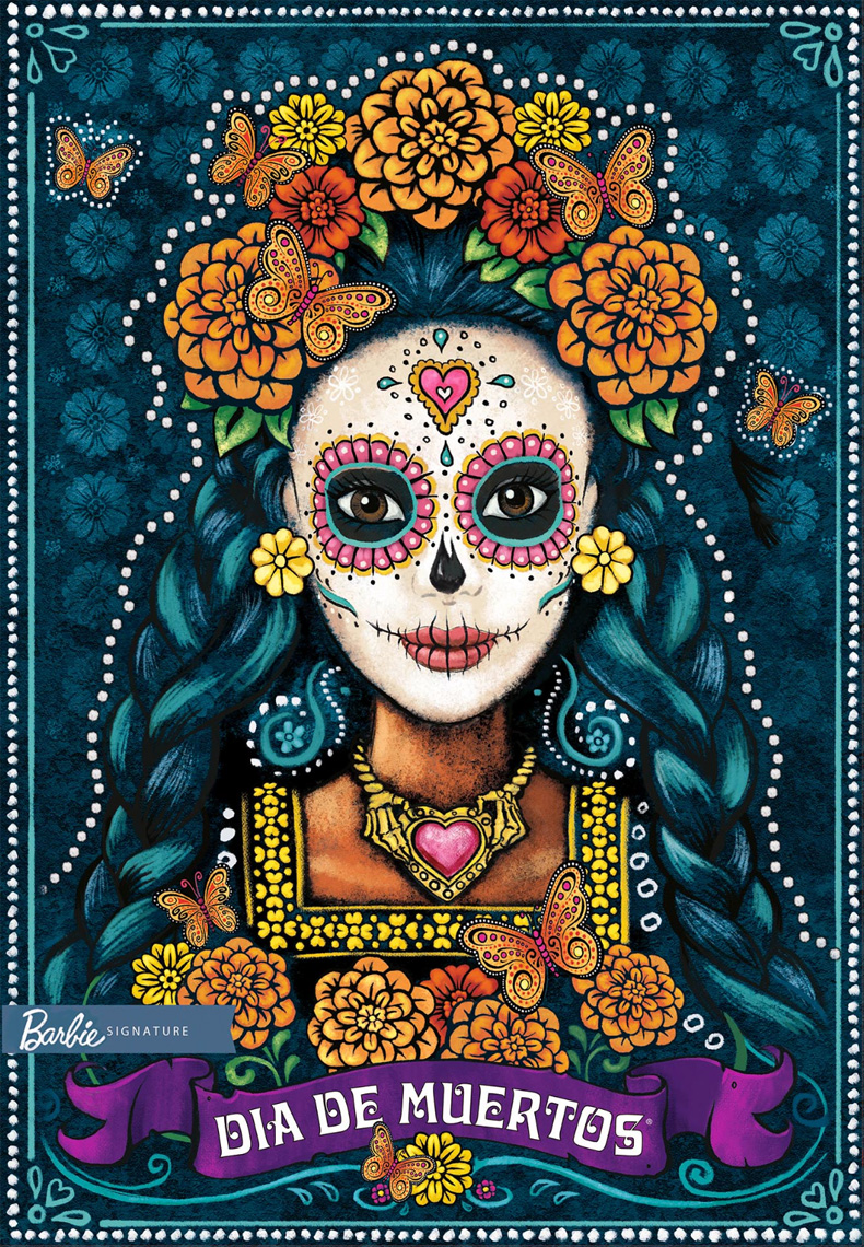 Ray Goudey Illustration Barbie Doll Dia De Muertos