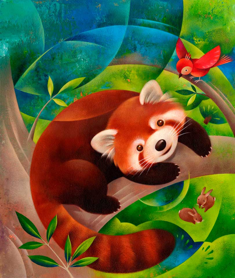 Jui Ishida Illustration red panda