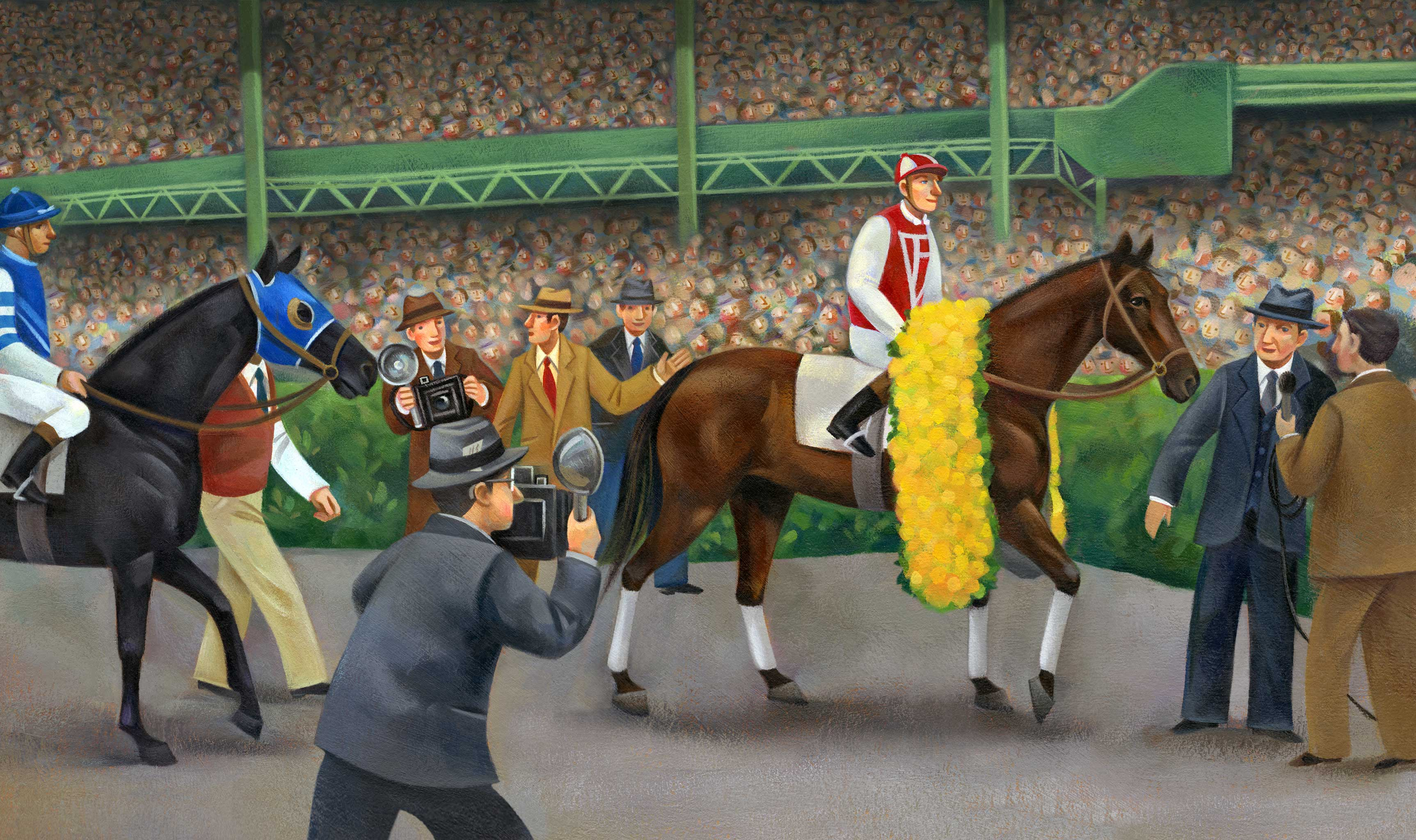 Jui Ishida Illustration Seabiscuit horse race
