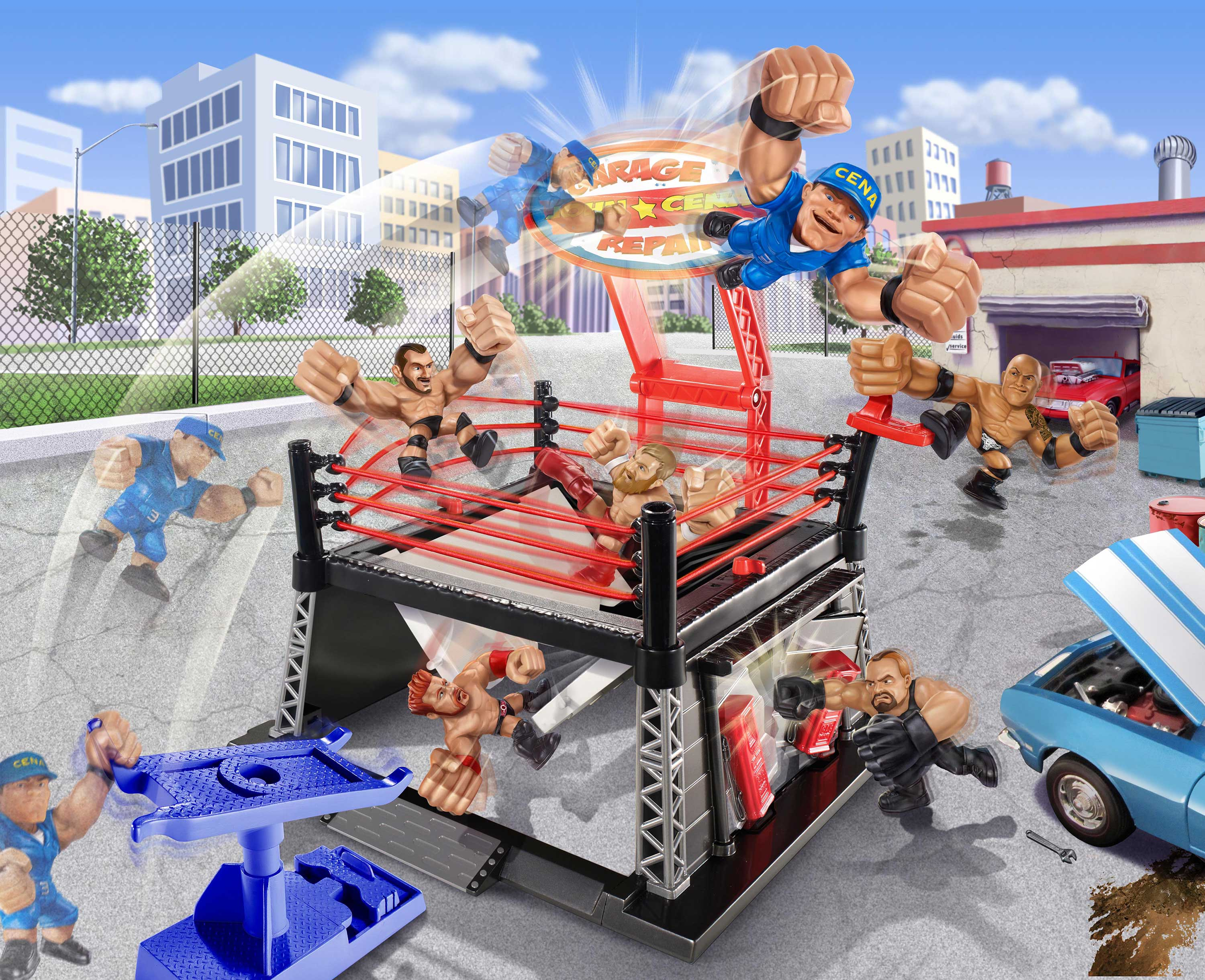 Ray Goudey Illustration WWE wrestlers toys