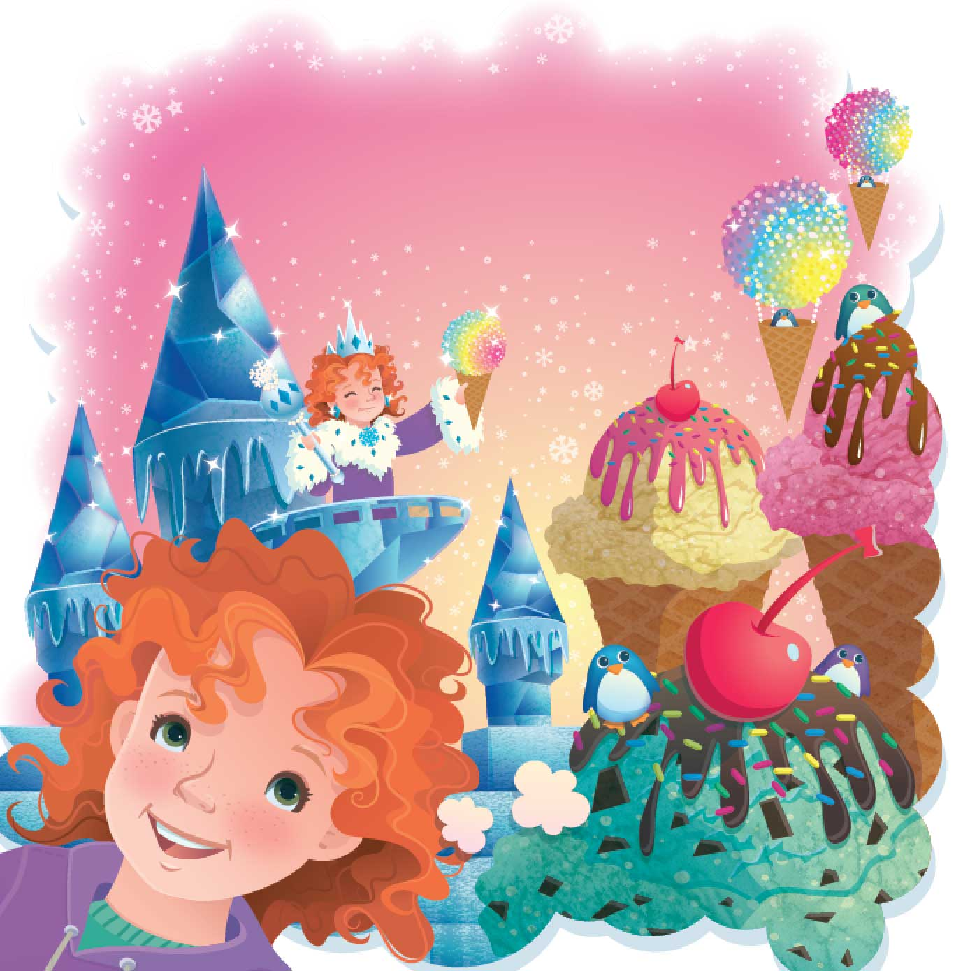 Jamie Tablason Illustration icequeen Ice cream dream