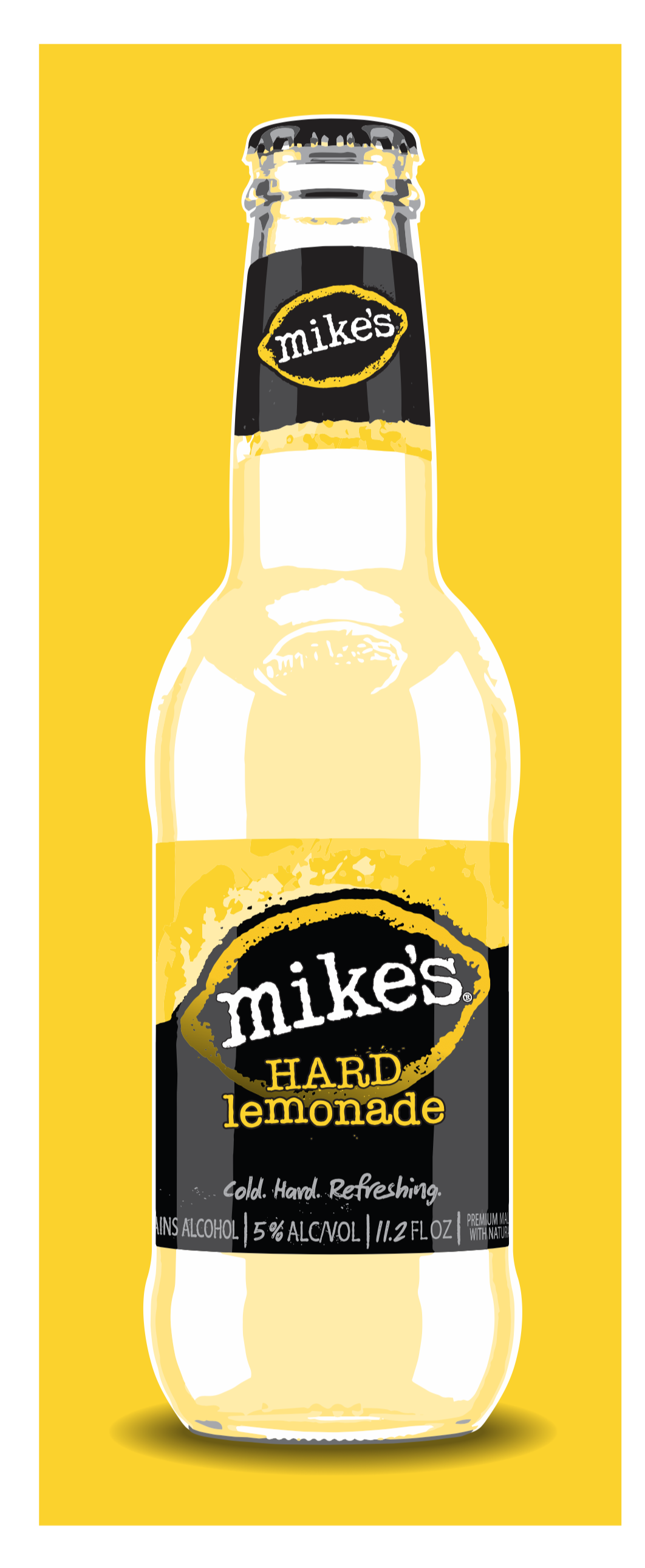 Chris Musselman Illustration mikes hard lemonade bottle